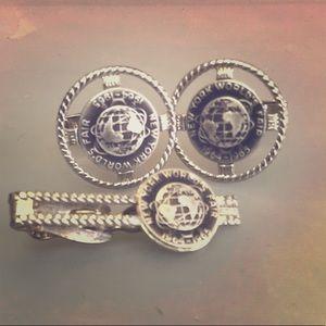 1964-1965 NY world fair souvenir cufflink Tie clip